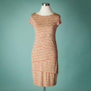 Bailey 44 Pink heathered ruffle dress